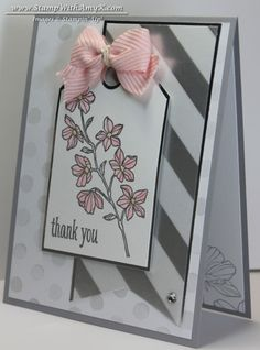 Silver Peaceful Petals Thank You - Stampin' Up!