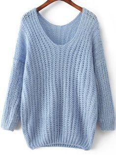 Shop Light Blue V Neck Long Sleeve Mohair Loose Sweater online. Sheinside offers Light Blue V Neck Long Sleeve Mohair Loose Sweater & more to fit your fashionable needs. Free Shipping Worldwide!
