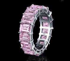 Robert Procop's Pink Diamond Eternity Band - Ringspotters: Engagement Ring Ideas