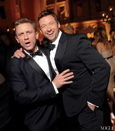 Men in Tuxedos! (Hugh Jackman on right)