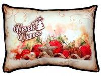 Vianočný vankúš s ozdobami