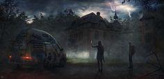 Beelitz Heilstatten Hospital on Behance Matte Painting, Zombie Art, Post Apocalypse, Horror Art, Illustration Art, Illustrations, Digital Art, Adventure, World