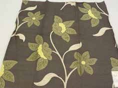 """Scalamandre Floral Lampas Fabric Sample 27"""" x 26"""" Charlize Lampas Anthracite Linen Viscose Polyester + FREE SAMPLES!!! on Etsy, $12.99"""