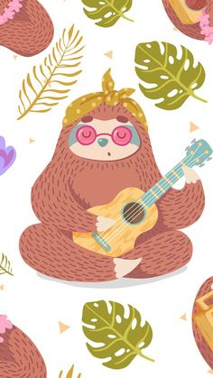 This is a cute sloth for my friend Beth