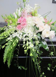 Casket pinks and whites