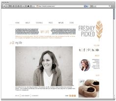 beautiful logo and web design by @fifthandhazel