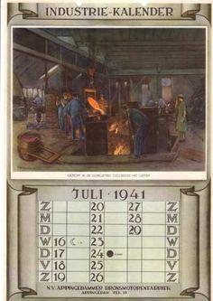 Kalender met afbeelding Brons Motoren (1941) - Herman Heijenbrock