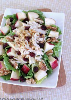 Cranberry Apple Chicken Salad w/ Honey Mustard Dressing