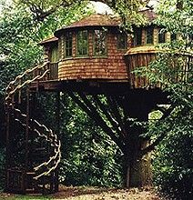 This another favorite visiting place for the fairies.  They love the staircase, and especially sliding down the bannister!