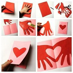 Valentine's Day Crafts For Kids, Diy Tutorial, Valentine Day Gifts, Iphone Wallpaper, Origami, Balloons, Flowers, Cards, Handmade