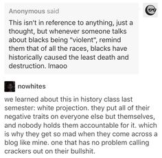 White projection