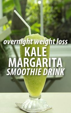Try a Kale Margarita Smoothie Recipe from Dr Oz and learn the secret ingredient that could help you to lose two pounds overnight  five pounds in a week. http://www.recapo.com/...