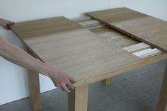 Oak Leaf Table extending. 2015. Emily Parsons.