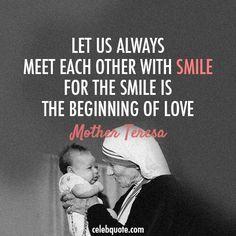 Smile..begin love