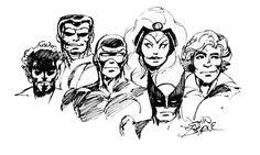 X-Men sketch by John Byrne. Comic Book Artists, Comic Books Art, Comic Art, Marvel Comics, Man Sketch, John Byrne, Hero Arts, X Men, Cute Drawings