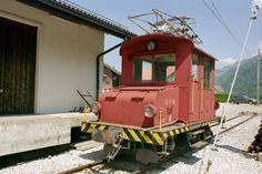 tpf (ex mm .Te auf dem Bahnhofsareal in Montbovon am St Denis, Swiss Railways, Electric Locomotive, Tours