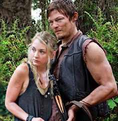 Daryl Dixon and Beth Greene - Bethyl #gc made - The Walking Dead - Norman Reedus - Emily Kinney