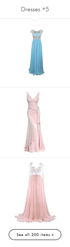 """""""Dresses #5"""" by yunalesca-cecilia-sakura ❤ liked on Polyvore featuring dresses, gowns, long dresses, vestidos, silver evening gowns, blue gown, powder blue gown, blue evening gown, floor length evening dresses and long dress"""