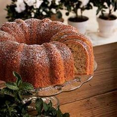 "Bananas 'n' Cream Bundt Cake Recipe -""THIS absolutely scrumptious cake needs no icing...just a dusting of confectioners' sugar. Even though this recipe has been a 'family secret' for years, I'm delighted to share it with my fellow <I>Reminisce</I> readers."""