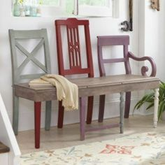 Create a creative bench for the hall from three old chairs. - Furniture Create a creative bench for the hall from three old chairs. Unusual … – Source by mewes Furniture, Interior, Redo Furniture, Indoor Furniture, Diy Bench, Home Decor, Repurposed Furniture, Recycled Furniture, Home Diy