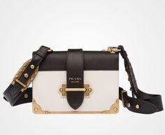 PRADA CAHIER BAG - 1BD045_2BB0_F0N13_V_OCH Diese und weitere Taschen auf www.designertaschen-shops.de entdecken