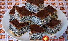 Simple poppy seed cake This is traditional slovak cake. It is easy for preparation and very good. I love it, because this cake preparing my grandma when I was a little girl. Easy Cake Recipes, Sweet Recipes, Dessert Recipes, Desserts, Poppy Seed Cake, Kolaci I Torte, Czech Recipes, Ethnic Recipes, Ukrainian Recipes