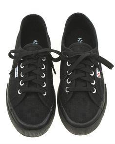 All black Superga sneakers