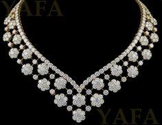 1960's VAN CLEEF & ARPELS Diamond Snowflakes Necklace - Yafa Jewelry