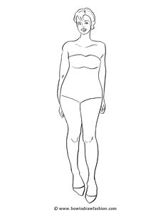 free fashion templates, croquis, poses, runway, standing, plus size, average size, model