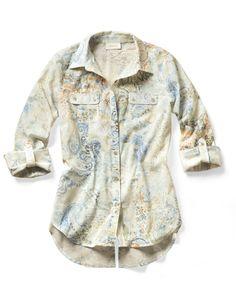 Cool Paisley Hannah Shirt.  DestinationFabulous  travel  spring  chicos 67655f73208a