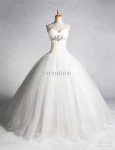 Wholesale custom made sweetheart beaded crystal ruffle corset cathedral sweep ball gown wedding dresses A021, $125.44-143.36/Piece | DHgate