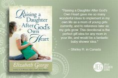 Elizabeth provides an engaging and inspirational resource for every mom who wants to lead her daughter to a godly life by example, encouragement, study, and prayer.