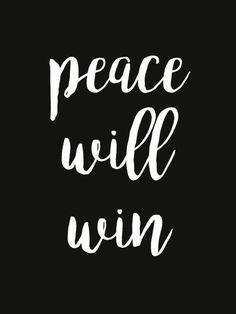 peace will win