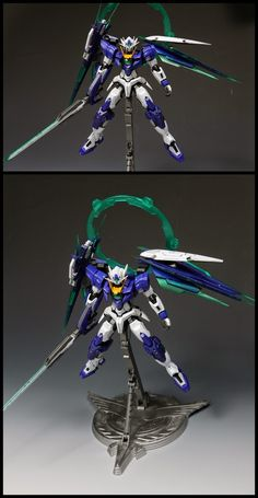 GUNDAM GUY: MG 1/100 GNT-0000 00 Qan[T] Ver. First Color [MetalBuild St.] - Customized Build