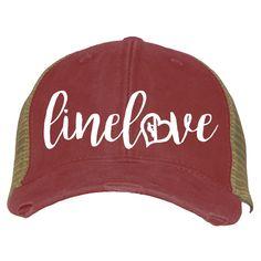 Linelove Lineman's Wife Hat Linewife Trucker Ballcap