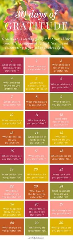 Count your blessings! One a day -- for the next 30 days! More