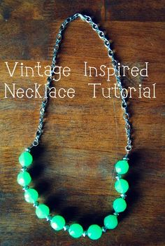 Diy Necklaces  : DIY: Easy Vintage-Style Beaded Necklace Tutorial