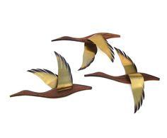 Mid century Modern Wall Art Birds in Flight Vintage Retro Decor. I remember these!!