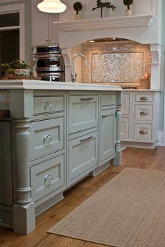 """""""Gray Horse by Benjamin Moore"""" / kitchen / interior design Kitchen Redo, Kitchen And Bath, New Kitchen, Kitchen Remodel, Kitchen Dining, Kitchen Cabinets, Kitchen Storage, Kitchen Pulls, Kitchen Ideas"""
