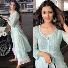 Beautiful Designer Kurti with Plazzo. 😍😍👗👗 Book in INR shipping within India delivery. For booking contact or watsapp  Indian Attire, Indian Wear, Indian Outfits, Stylish Dresses, Fashion Dresses, Casual Indian Fashion, Easy Mens Hairstyles, Indian Designer Suits, Kurta Designs Women