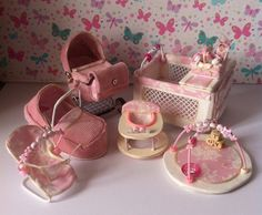 Ooak Miniature Baby and Her Nursery Set by HELENSOOAKMINIATURES