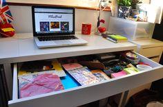 Ikea Micke Desk Drawer Blogging Space Miss Pond