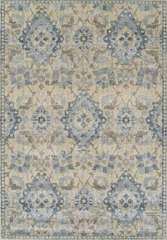 Antigua Gray/Blue Area Rug