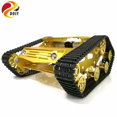 DOIT Y100 Robot Tracked Tank Car Chassis with Aluminium Alloy Frame and Wheel for Robot Education Modification DIY Tank Model RC