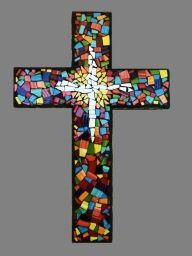 tiled mosaic cross