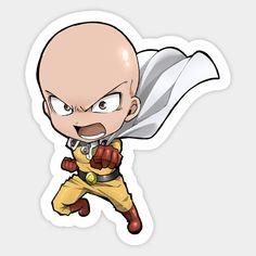 Chibi Saitama - One Punch Man - One Punch Man - Sticker Saitama One Punch Man, Anime One Punch Man, One Punch Man Funny, Anime Chibi, Kawaii Anime, Anime Stickers, Cute Stickers, One Punch Man Episodes, Tokyo Ghoul Drawing