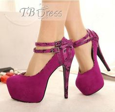 $50.99 Sexy Platform Stiletto Heel Shoes with Double Straps