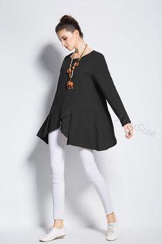 de8a2bb5a37 Anysize special hem design linen dress plus size dress plus size tops plus  size clothing Spring Fall dress clothing Y224
