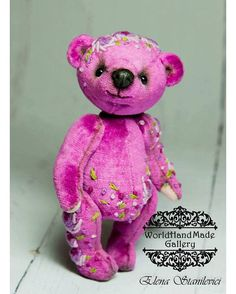 !!!!SALE!SALE!SALE!!!! ➡️ Hand-Made 💯 🌏 http://world-handmade-gallery.com/ _________________________ by: Elena Stanilevici 🐻❤️ My name is Elena Stanilevici and I am from Moldova. I would like to show you my bears, which was created with love and good mood. Latisha is made from German plush fabric and embroidery . She is sewn by hand with a lot of love and attention for detail. All bears made from quality materials and have pleasant weight))). _________________________ Меня зовут Елена…