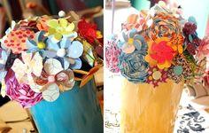paper flower centerpiece 2